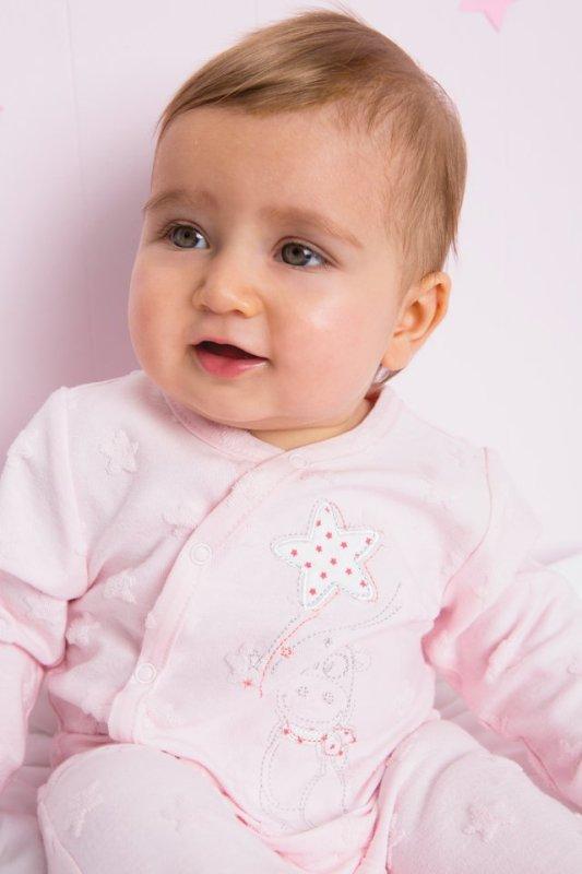 Pyjama Lola Etoiles Jersey Rose - Naissance